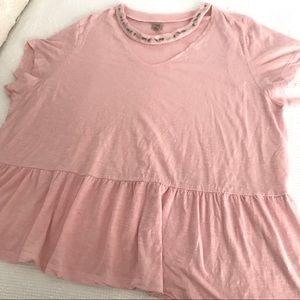 TRUE CRAFT Embroidered GiGi Top Pink Short sleeves